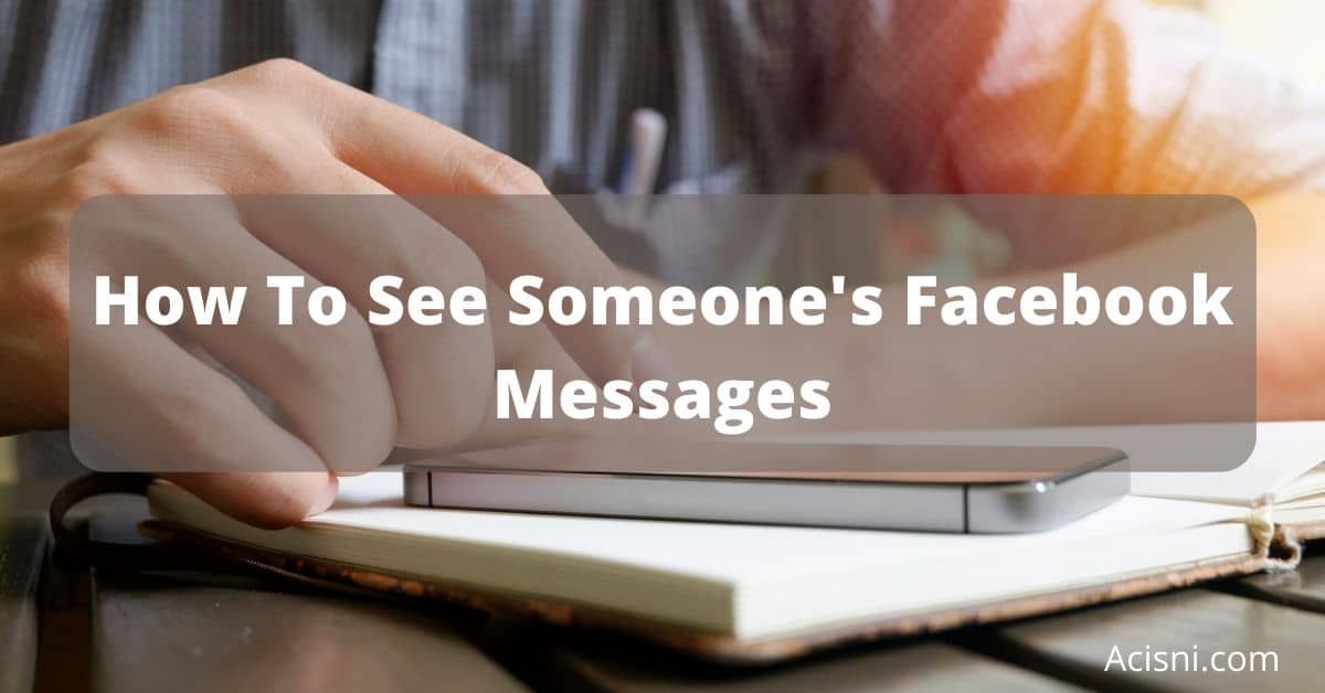 how to see someones facebook messages