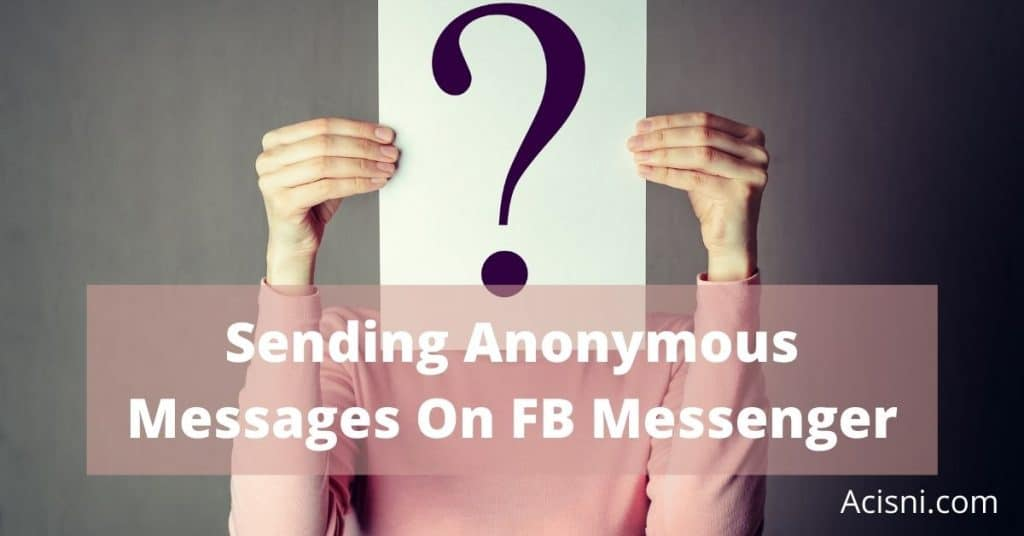 send anonymous facebook message