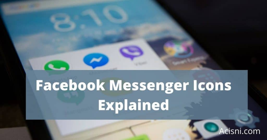 facebook messenger sybols and icons explained